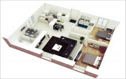 10 mẫu thiết kế nội thất chung cư 60m2