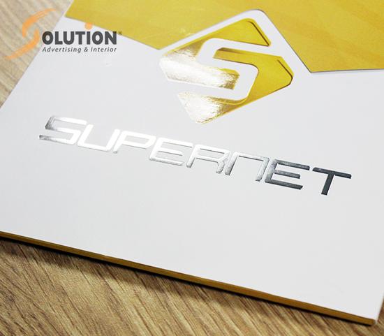 Thiết kế bộ tài liệu bán hàng sales kit SUPERNET