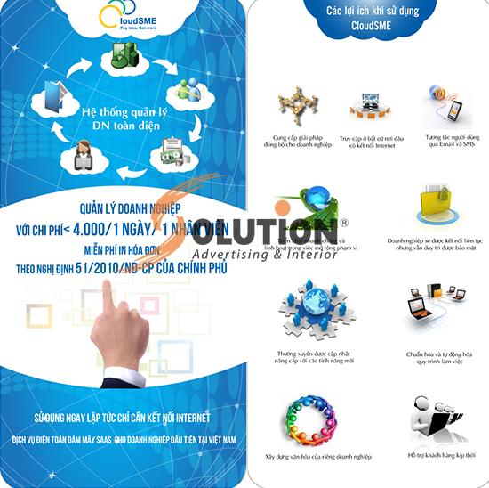 Thiết kế brochure hệ thống CloudSME