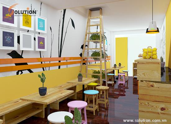 Thiết kế nội thất nhà hàng Fast food Trần Hưng Đạo
