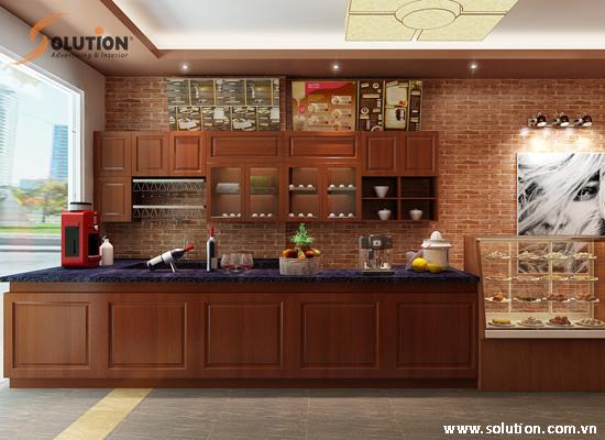 Thiết kế nội thất quán Cafe Azura
