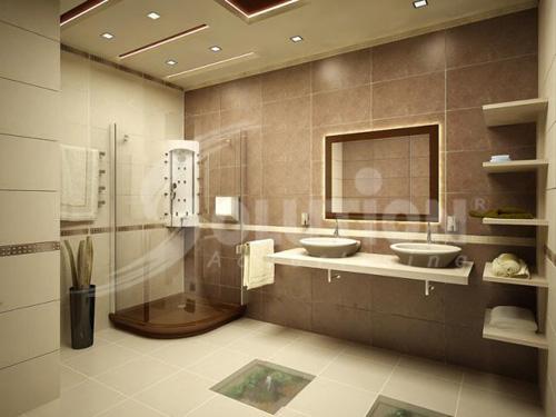 Thiết kế nội thất phòng tắm khách sạn