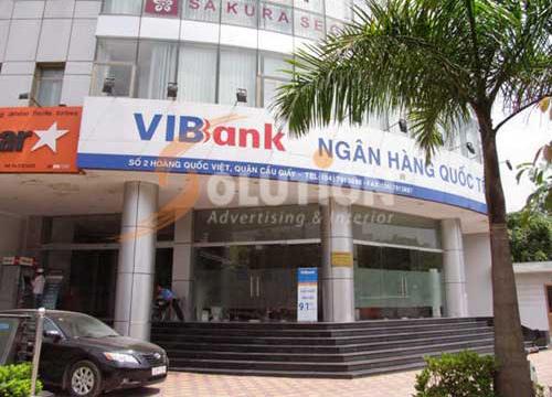 Thiết kế thi công nội thất Ngân hàng VIB chi nhánh Hoàng Quốc Việt