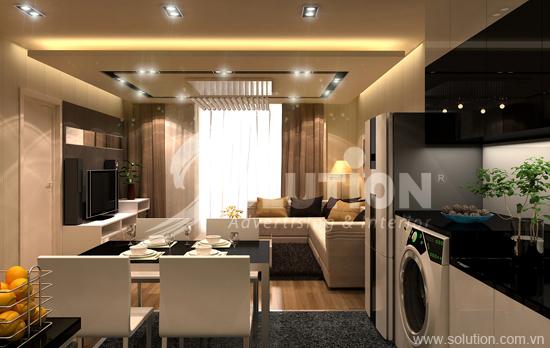 Thiết kế và thi công nội thất chung cư cao cấp Times City
