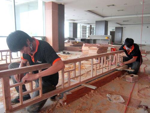 Hình ảnh thi công dự án khách sạn Sapaly-Lào Cai