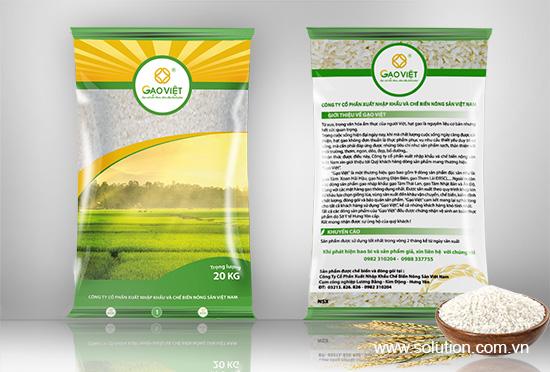 Thiết kế bao bì sản phẩm Gạo Việt