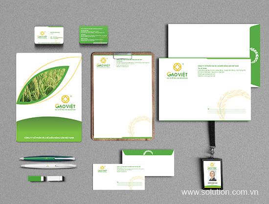 Thiết kế bộ nhận diện thương hiệu Gạo Việt
