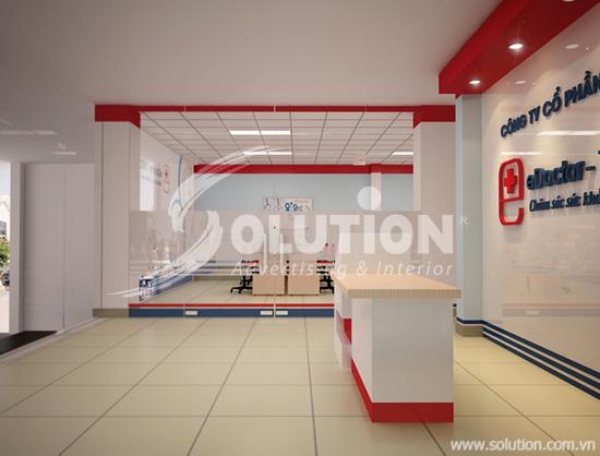 Thiết kế nội thất văn phòng Edoctor
