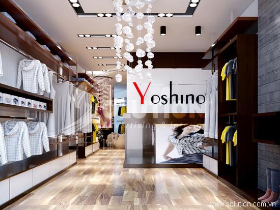 THIẾT KẾ NỘI THẤT SHOWROOM THỜI TRANG YOSHINO