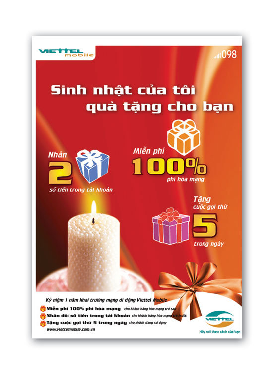 Thiết kế poster Viettel Mobile