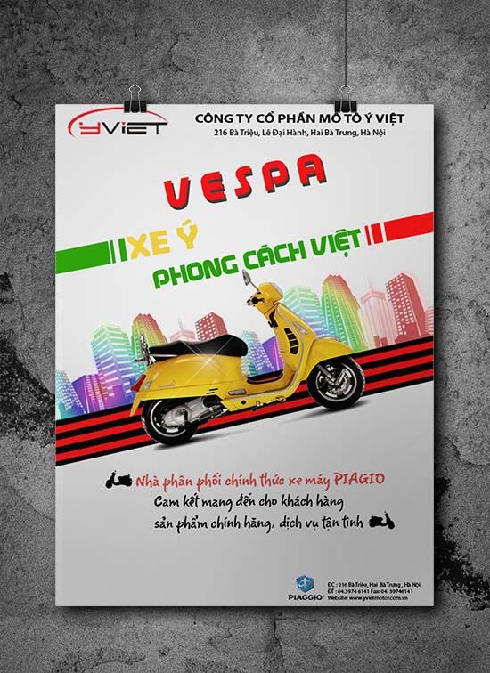 Thiết kế tờ rơi vespa Ý Việt