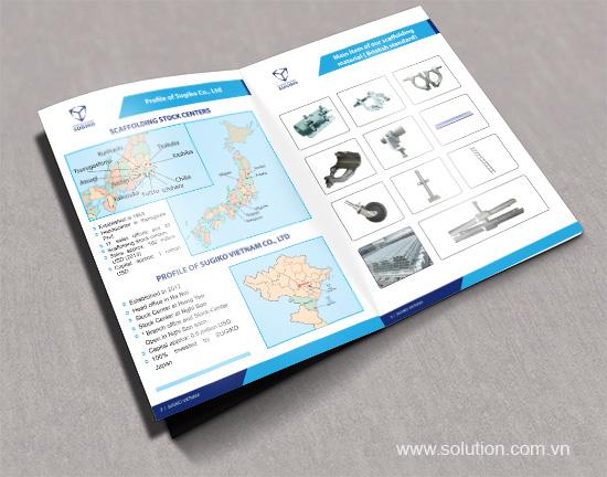 Thiết kế tờ gấp công ty TNHH Sugiko