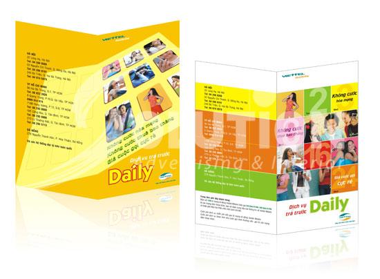Thiết kế tờ gấp cho Viettel Mobile