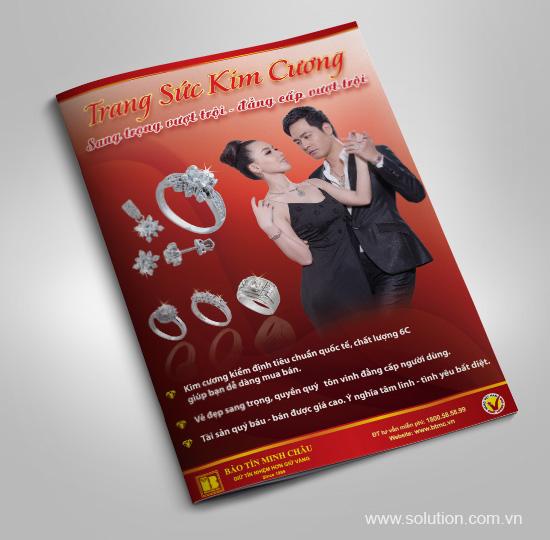 Thiết kế tờ rơi Công ty Vàng Bạc Đá Quý Bảo Tín Minh Châu