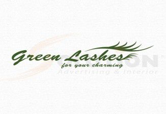 Thiết kế logo GREEN LASHES