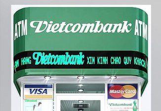 Thiết kế và thi công cây rút tiền ATM Vietcombank