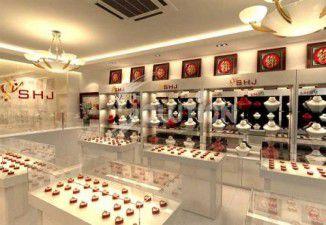 Thiết kế nội thất cửa hàng vàng SHJ 63 Nguyễn Trãi