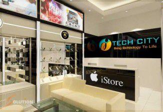 Thiết kế và thi công nội thất showroom smartphone TechCity