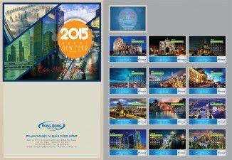 Thiết kế lịch Công ty Dũng Đông