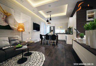 Thiết kế thi công nội thất chung cư Sky Light