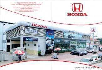 Thiết kế tờ rơi Showroom Honda Tây Hồ
