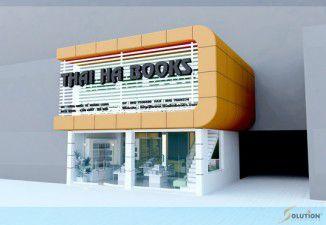 Thiết kế nội thất showroom Thái Hà Book