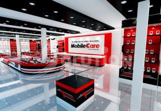 THIẾT KẾ THI CÔNG NỘI THẤT SHOWROOM MOBILE CARE