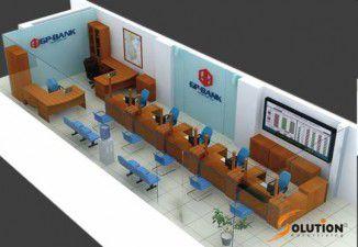 Thiết kế nội thất ngân hàng GP