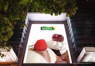 Thiết kế biển quảng cáo ngoài trời cửa hàng kem NewZealand