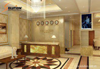 Thiết kế nội thất khách sạn bông sen tại Bắc Ninh