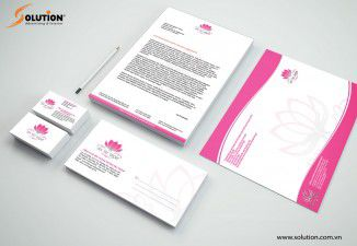 Thiết kế bộ nhận diện thương hiệu Công ty Sen Việt Group
