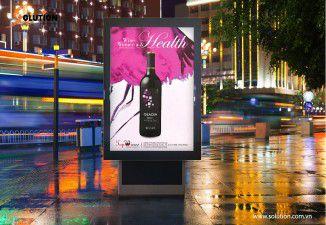 Thiết kế poster quảng cáo Rượu vang Phú Gia