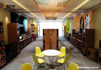 Solution thiết kế nội thất showroom âm thanh BTE Hà Tĩnh