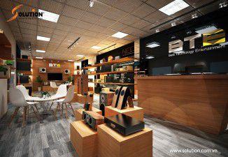 Thiết kế nội thất showroom âm thanh BTE