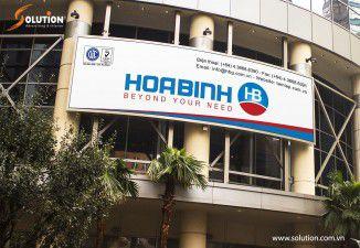 Thiết kế biển hiệu quảng cáo Công ty Hòa Bình