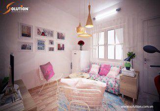 Thiết kế thi công nội thất căn hộ chung cư cũ 30m2