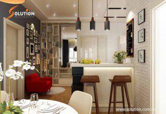 Thiết kế thi công nội thất chung cư cao cấp nhà anh Hà tại Long Biên