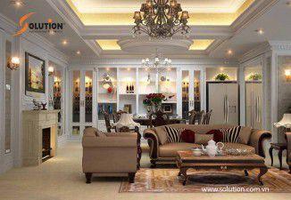 Mẫu thiết kế nội thất phòng khách biệt thự đẹp