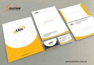 Bộ nhận diện thương hiệu công ty tnhh thương mại và kỹ thuật ABG