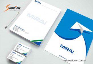 Thiết kế bộ nhận diện thương hiệu công ty cổ phần Mirai International