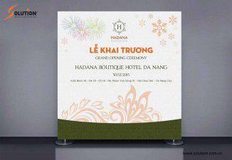 Thiết kế poster, standee, backdrop khách sạn Hadana