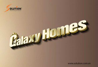 Thiết kế logo công ty bất động sản Galaxy Homes