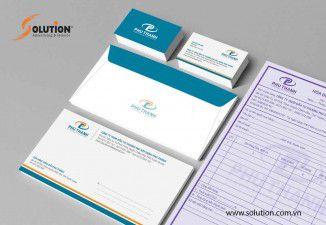 Thiết kế bộ nhận diện thương hiệu công ty tnhh đâu tư thương mại xây dựng Phú Thành