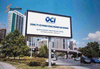 Thiết kế thi công biển quảng cáo công ty cp công nghiệp đại dương OCI