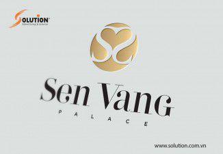 Thiết kế logo trung tâm hội nghị tiệc cưới Sen Vàng PaLaCe