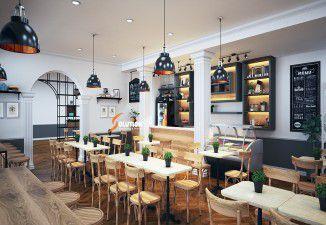 Sang trọng với thiết kế nội thất quán café kiểu Pháp của chị Hà