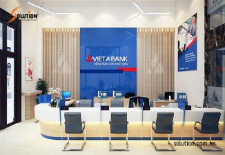 Thiết kế nội thất ngân hàng Viet A Bank