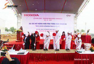Tổ chức lễ khởi công dự án mở rộng kho phụ tùng Honda