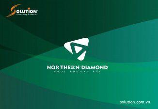 Thiết kế logo Northern Diamond- Công ty CP xây dựng Sông Hồng (Incomex)