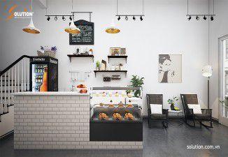 Thiết kế nội thất quán Cafe CECI
